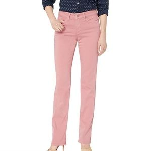 NYDJ Pink Marilyn Stretch Twill Straight Leg